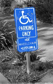 accessability handicapped parking